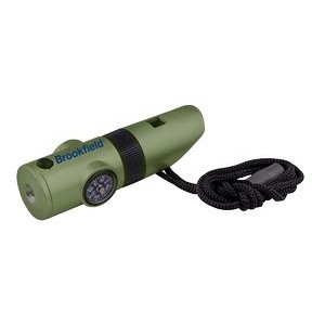 7-IN-1 Survival Whistle with LED Flashlight : Green Color