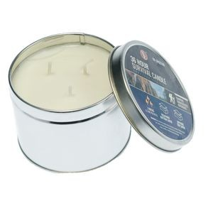 Survival candle 3 Wicks, 36 Total Hours,12 Hours Per Wick, Soy Wax, in a Tin Box