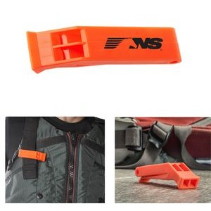 "2 3/4"" Orange Plastic Floating Whistle with Clip"